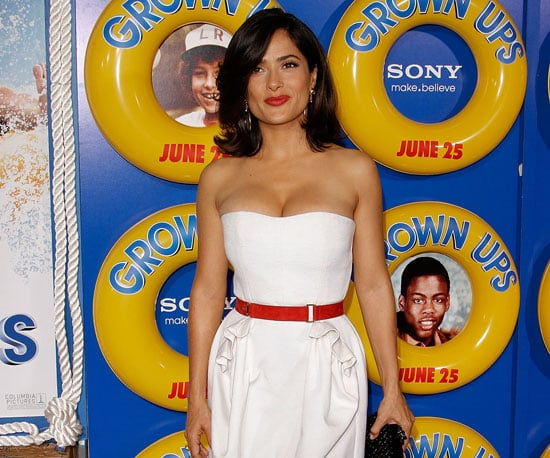Slide Picture of Salma Hayek at the Grown Ups Premiere in NYC