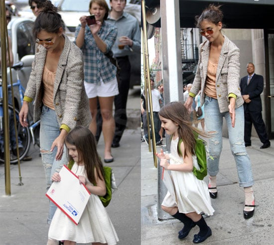 Photos of Suri Cruise and Katie Holmes in NYC