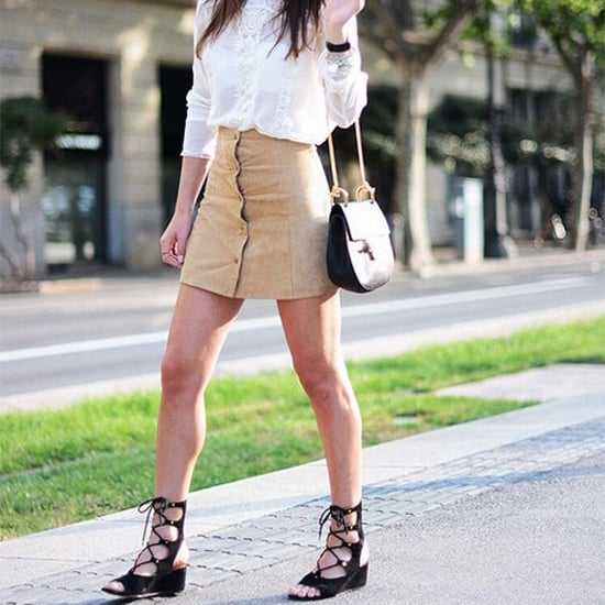 Lace-Up Sandals With Block Heel