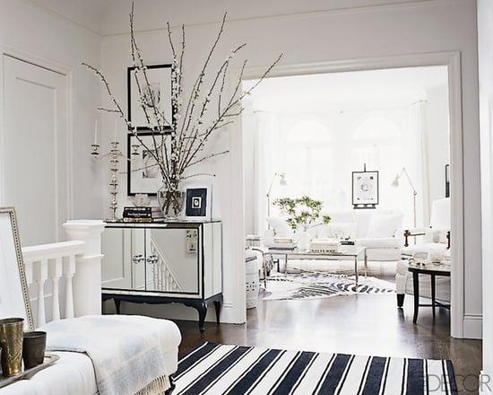 Ask Casa: Elle Decor Black and White Striped Rug