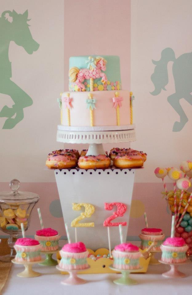 A Pastel Carousel Cake