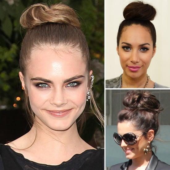 Cara Delevingne, Cheryl Cole, Leona Lewis' High Bun Style