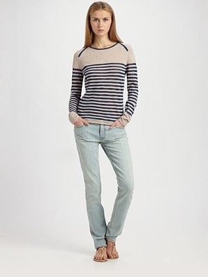 Tory Burch Troy Striped Sweater ($198)