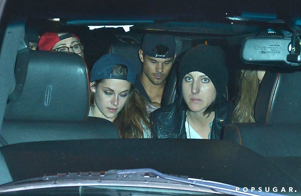 Kristen Stewart, Taylor Lautner, and Katy Perry's assistant, Tamra Natisin, piled into a car together.