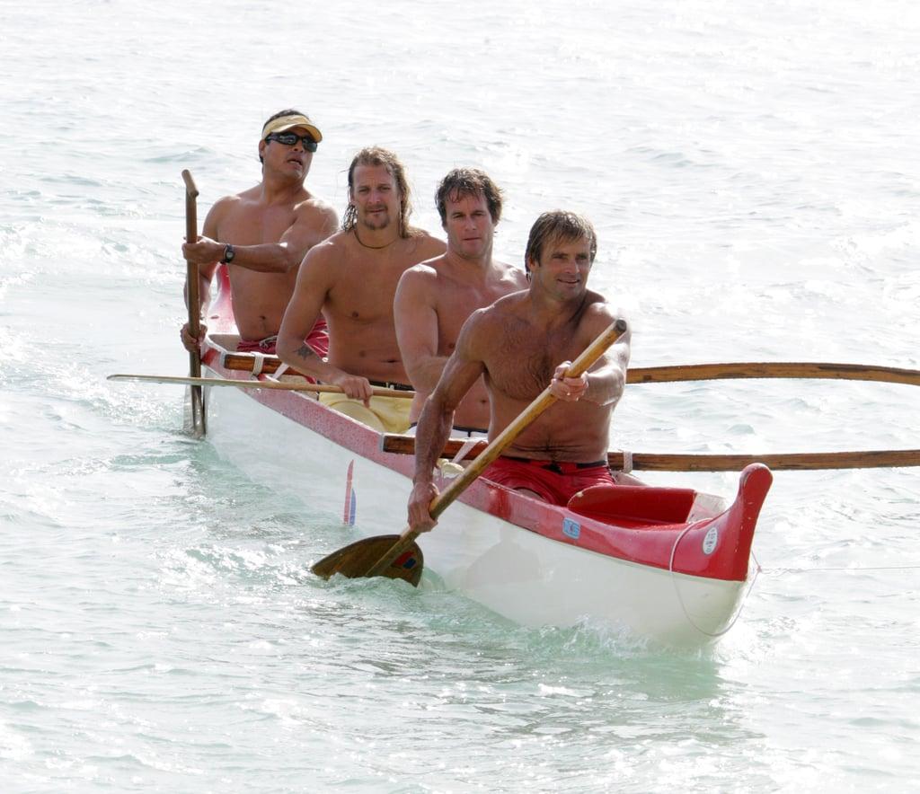 Good looking guys Rande Gerber, Laird Hamilton, and Kid Rock vacationed in Honolulu in December 2006.