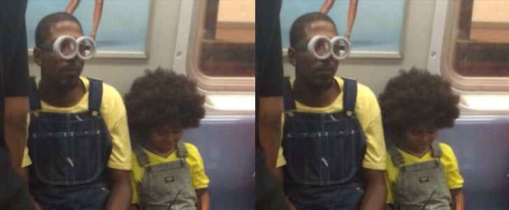 Father of the Year Takes the Subway Dressed as a Minion With His Son