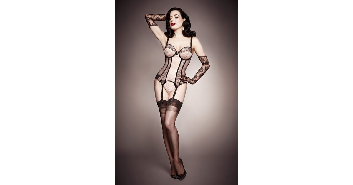 dita von teese lingerie yes you can look this sexy in lingerie popsugar fashion. Black Bedroom Furniture Sets. Home Design Ideas