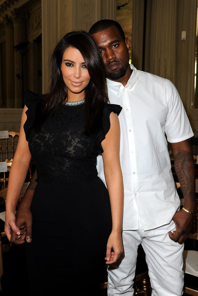 New It couple Kim Kardashian and Kanye West were also in Paris for fashion week on July 4.