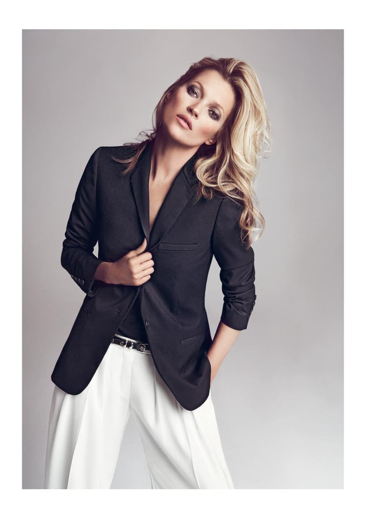 A sleek mix of blazer black and crisp white pants for Mango's Fall lineup.