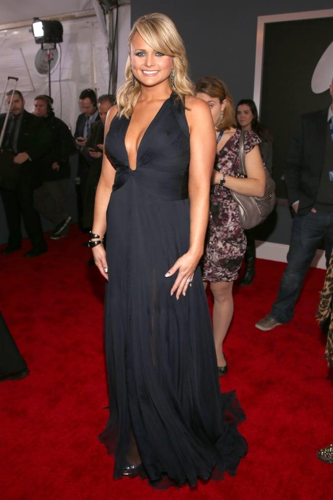 Miranda Lambert hit the red carpet before performing with fellow country star Dierks Bentley.