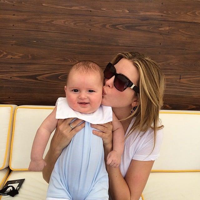 Ivanka Trump smooched her growing baby boy, Joseph. Source: Instagram user ivankatrump