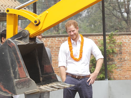 Prince Harry Helps Rebuild an Earthquake-Hit School in Nepal - with Help from His Injured Veteran Pals
