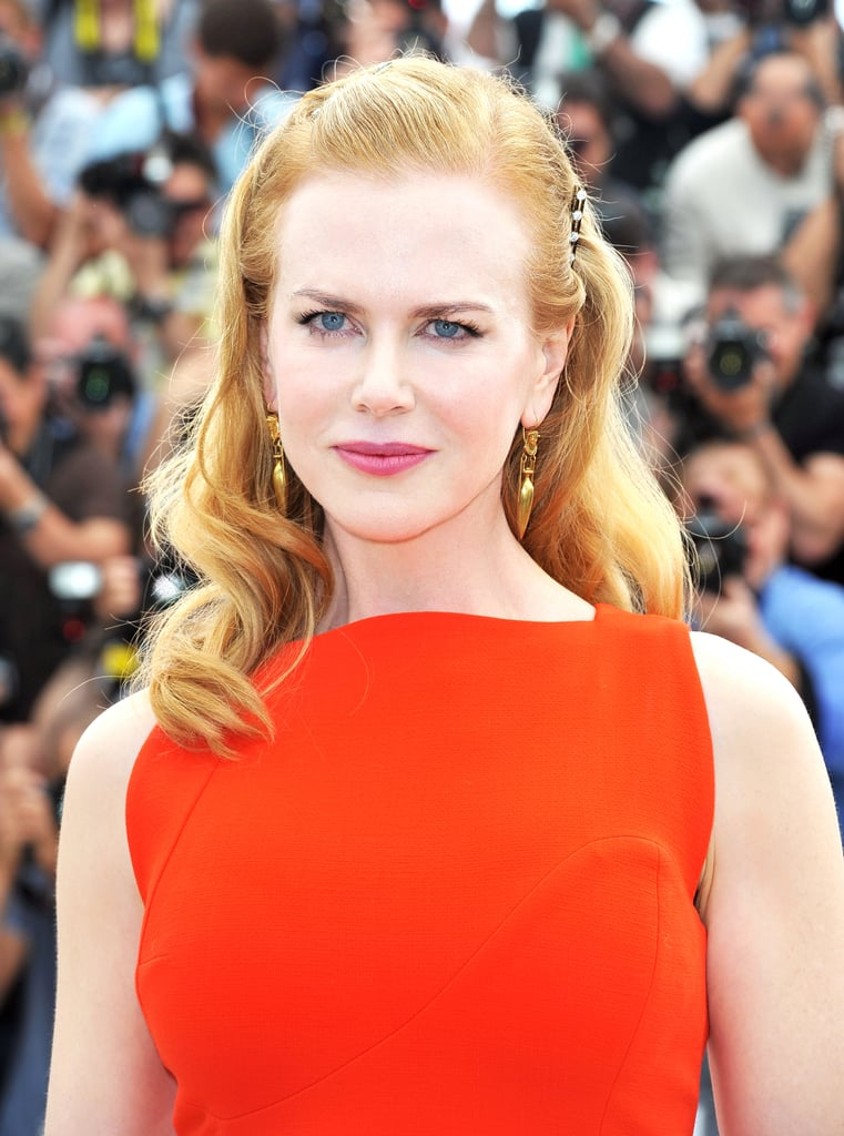 Last year, Nicole was seen in Cannes for The Paperboy's photocall with her hair in loose waves, which she pulled back with crystal-encrusted hair clips.