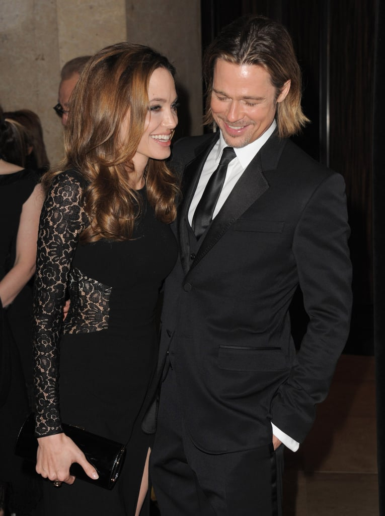 Brad Pitt and Angelina Jolie were in high spirits at the January 2012 Producers Guild Awards.