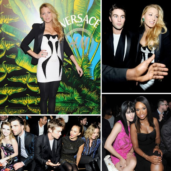 Blake Joins Jessica, Chace, and More at Donatella's Versace For H&M Blow-Out