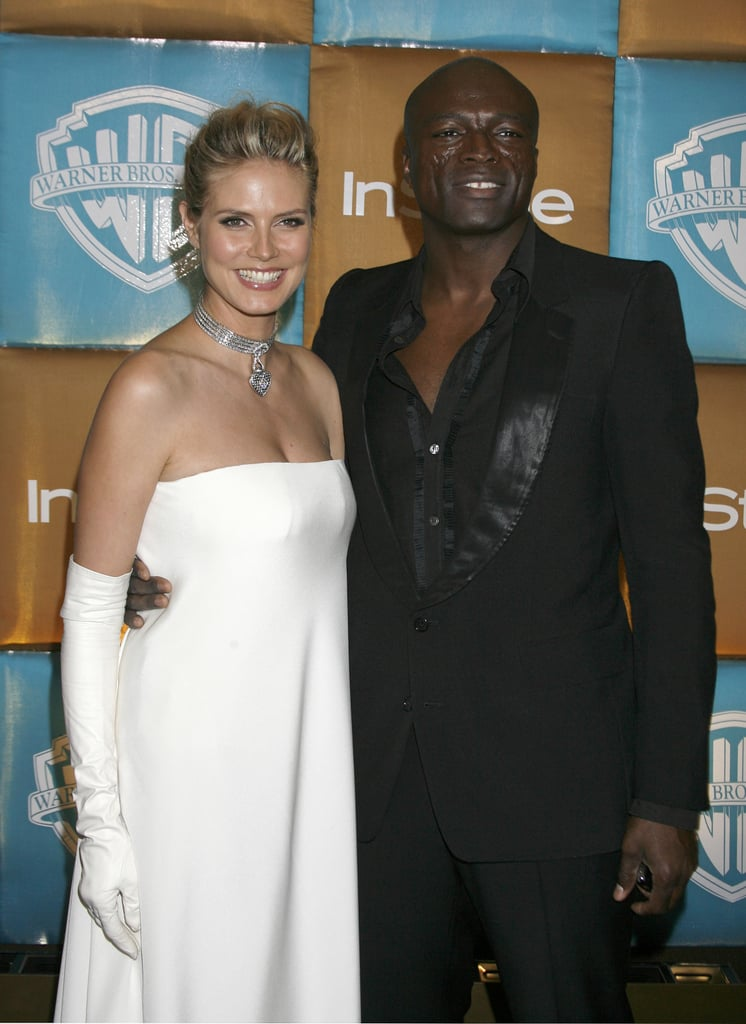 Seal and Heidi posed together at the InStyle and Warner Bros. 2007 Golden Globes after party.
