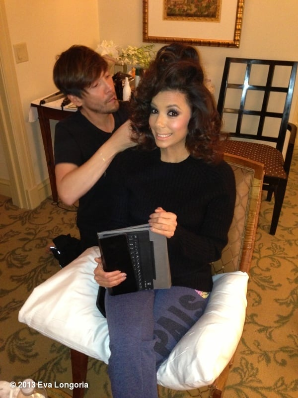 Eva Longoria got her hair styled by Ken Paves ahead of the Inauguration. Source: Eva Longoria on WhoSay