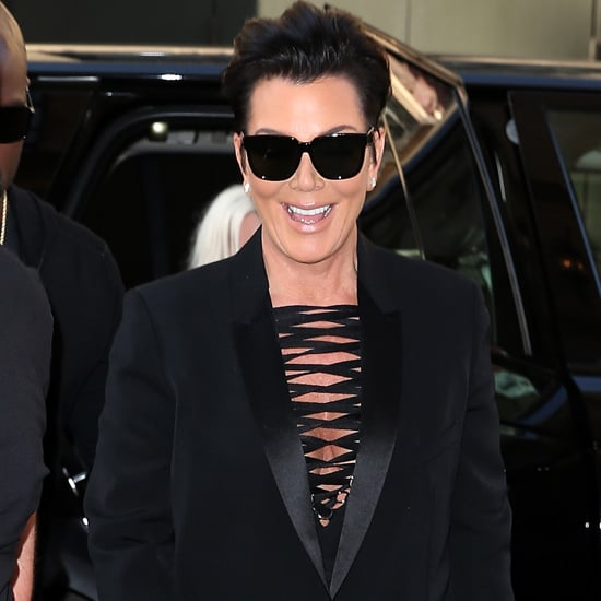 Kris Jenner Wearing Black Givenchy Outfit in Paris