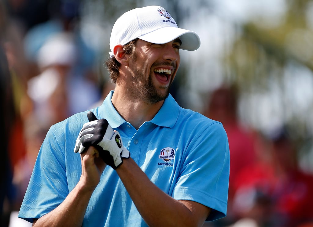 Michael Phelps switched sports for the September 2012 Ryder Cup Captains & Celebrity Scramble in Illinois.