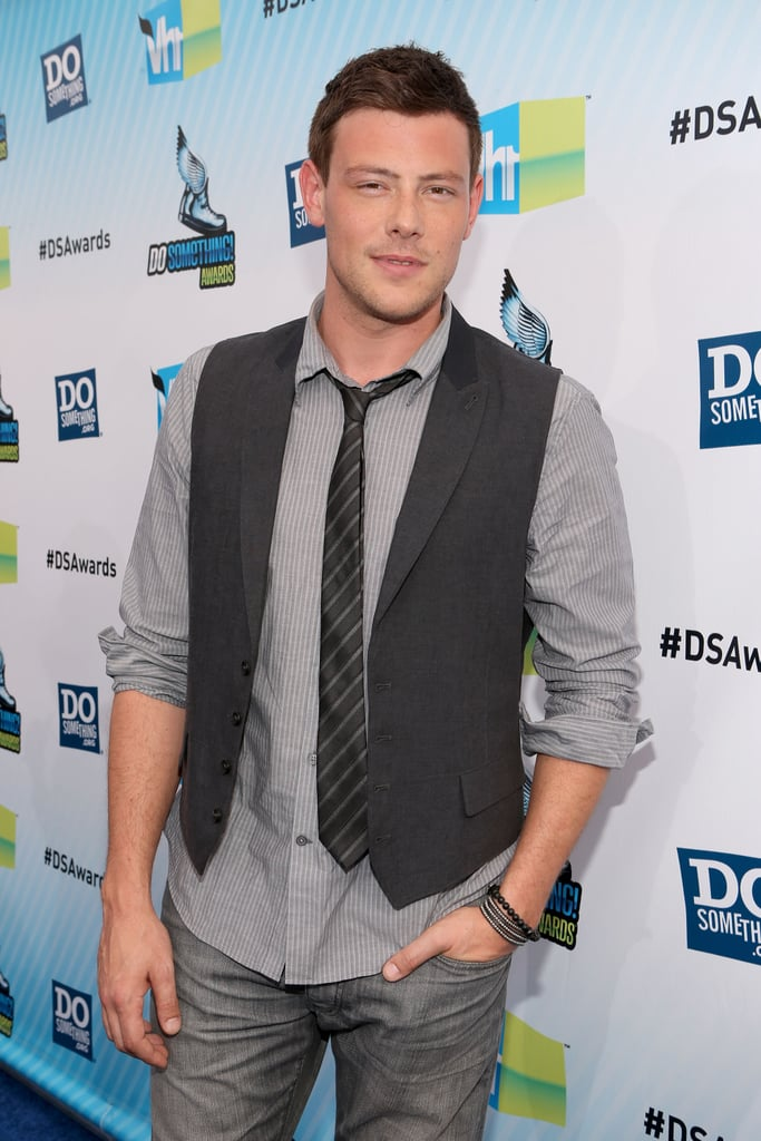 Cory Monteith posed on the carpet at the Do Something Awards.