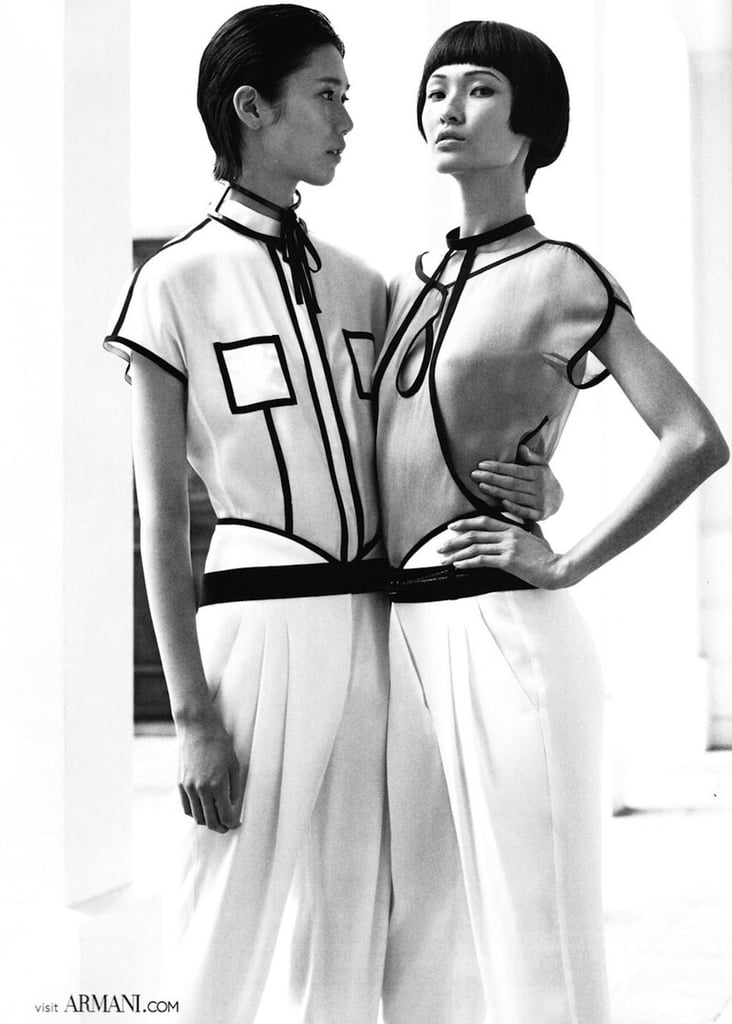 Black-and-white contrasts dictate the Emporio Armani ads. Source: Fashion Gone Rogue