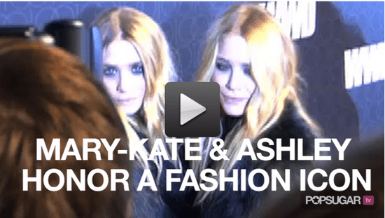 Video of Mary-Kate and Ashley Olsen at Women's Wear Daily Celebration 2010-11-03 09:26:03