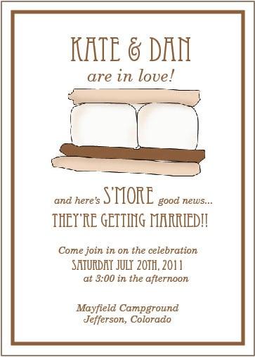 S'more Wedding Invitation