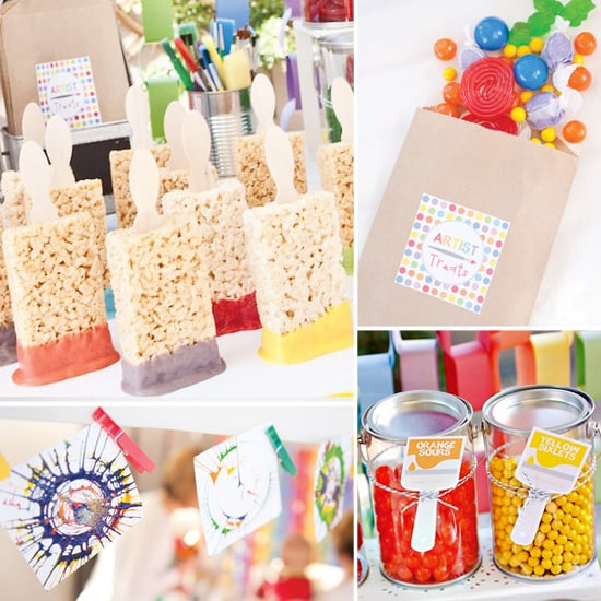 A Colorful, Clever Rainbow Paint Birthday Party
