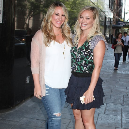 Hilary and Haylie Duff in NYC Photo September 2015