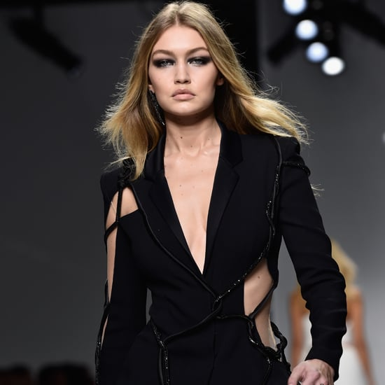 Gigi Hadid at the Versace Couture Show Spring 2016