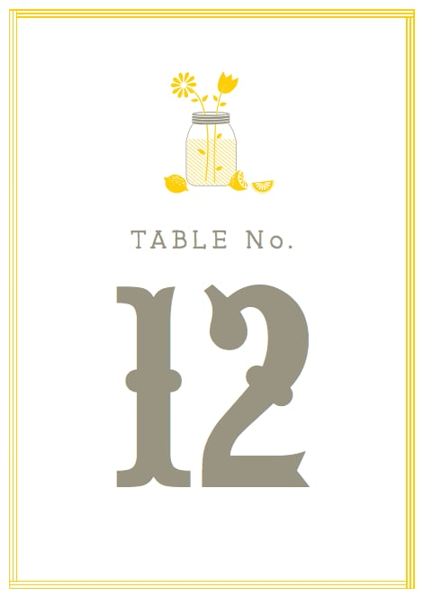 Lemonade-Stand Table Numbers