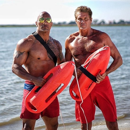 Zac Efron and The Rock's Baywatch Instagram Pictures