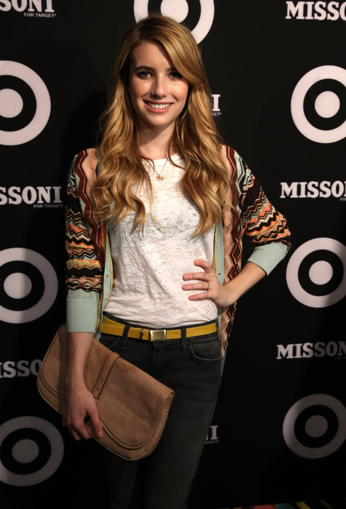 Emma Roberts stayed casual in jeans.