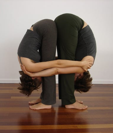 Slideshow of Partner Yoga Poses
