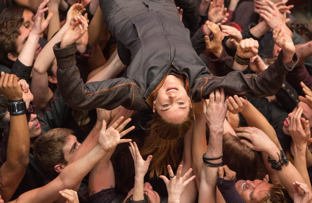 Tris experiences one of her first moments of acceptance as a Dauntless.