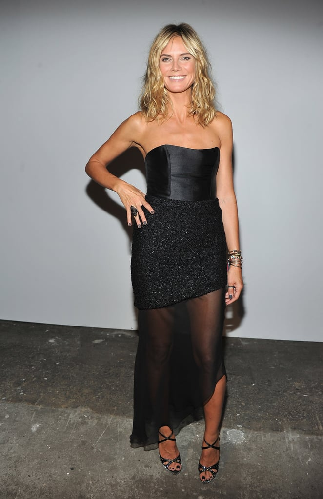Heidi Klum at Christian Siriano.