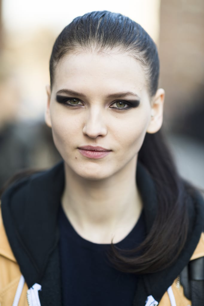 Model Katlin Aas looked stunning after leaving the Michael Kors show still donning her makeup look from the runway. Source: Le 21ème | Adam Katz Sinding
