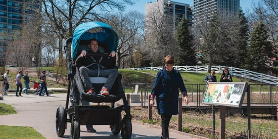 A Stroller Company Made A Grown-Up Version For Adults To Test Ride
