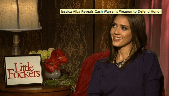 Video of Jessica Alba Talking About Cash Warren Protecting Honor