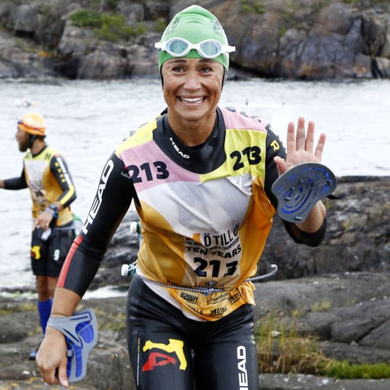 Pippa Middleton Swimming and Running Race in September 2015