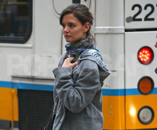 Slide Photo of Katie Holmes in Boston
