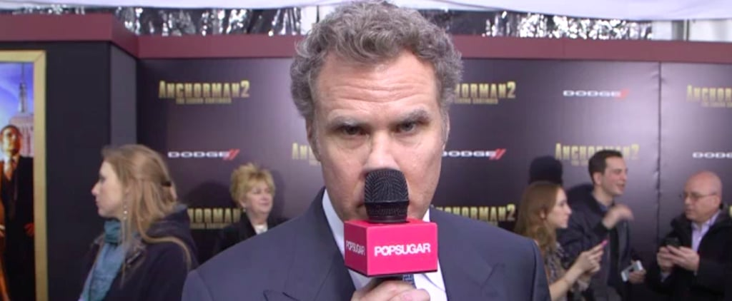 Try Not to Laugh at Ron Burgundy's Stint as a POPSUGAR Live! Reporter