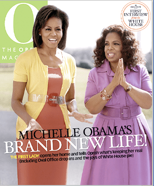 Oprah and Michelle Obama on O Magazine Cover