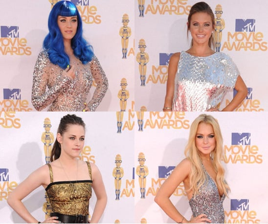 Photos of Celebrities in Sequins at the 2010 MTV Movie Awards Including Kristen Stewart
