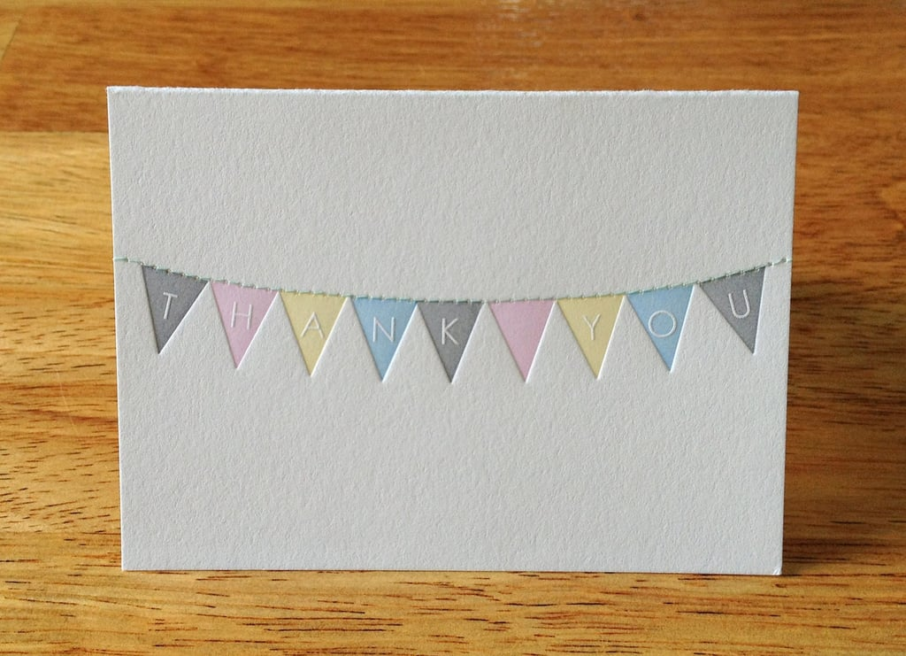 Bunting Thank You Notes