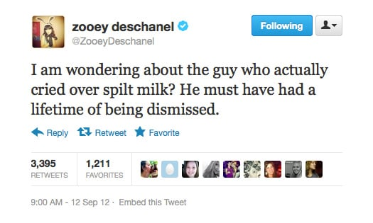 Zooey Deschanel goes for the underdog.