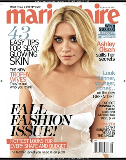 September 2009 Marie Claire Cover With Ashley Olsen
