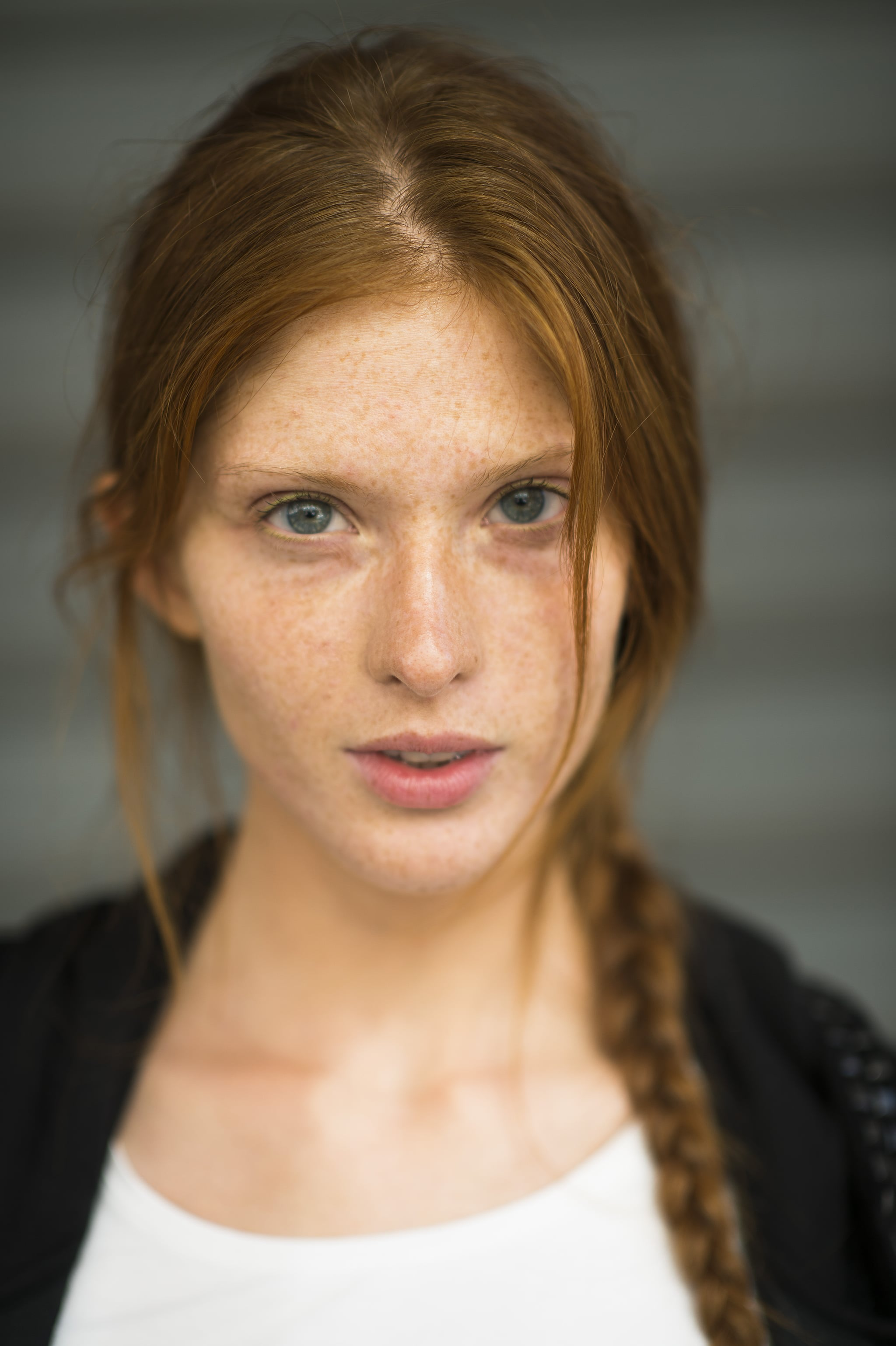 This woman's beautiful red hair looked gorgeous braided into a pretty plait.  Source: Le 21ème | Adam Katz Sinding