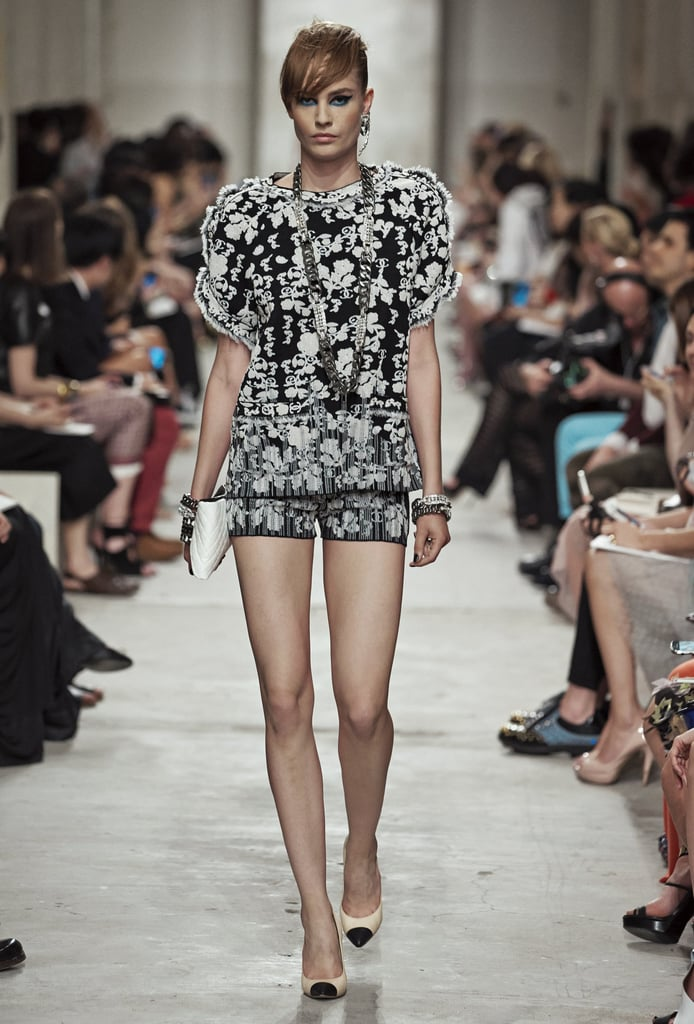 After a big moment on the Spring 2013 runways, the tailored shorts suit decided to stick around for Resort. Source: Chanel