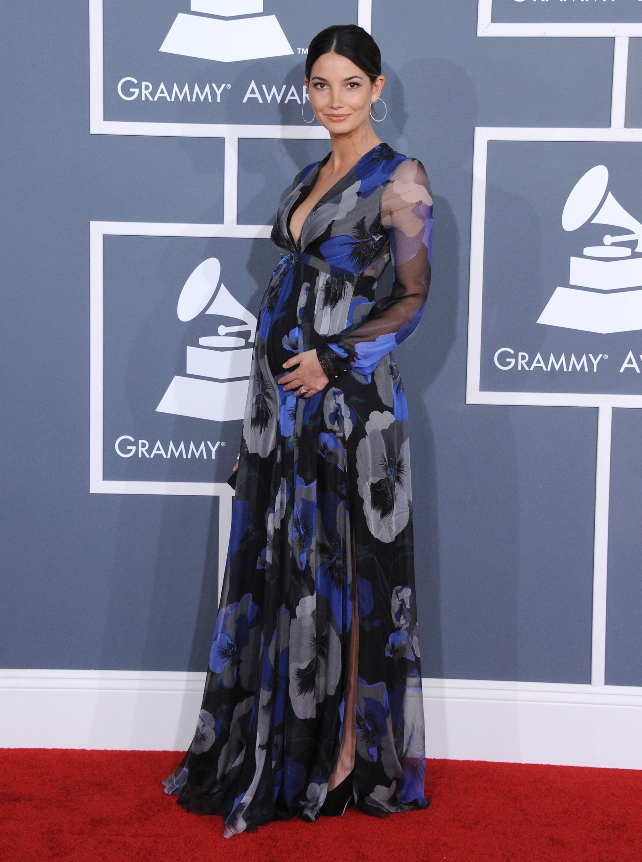 Lily Aldridge at the Grammy Awards in Los Angeles